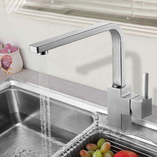 China Square Design Stainless Steel Kitchen Sink Faucet With Csa