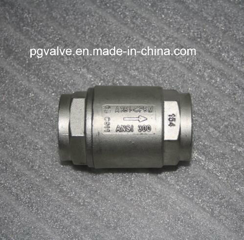 Spring Return CF8 Vertical 200psi Check Valve (h11h) pictures & photos