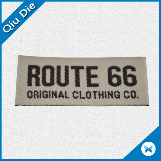 Factory OEM Clothing Brand Mark Woven Label pictures & photos