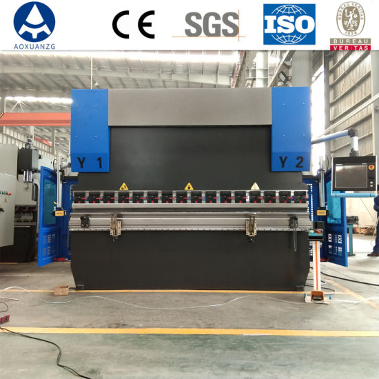 We67K Electro-Hydraulic Synchronous CNC Press Brake with 6+1 Axis for Plate Sheet Bending