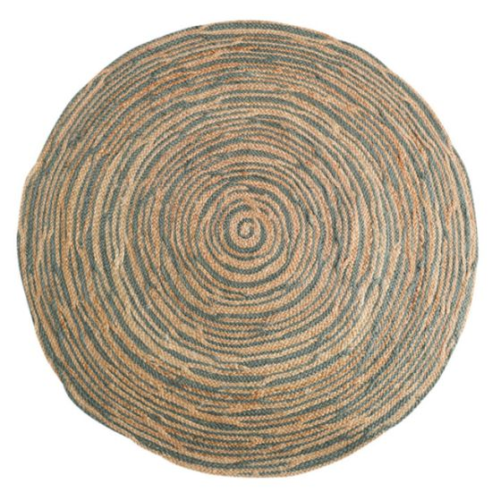 Natural Fiber Collection Handmade Farmhouse Fringe Premium Jute Area Rug, Natural