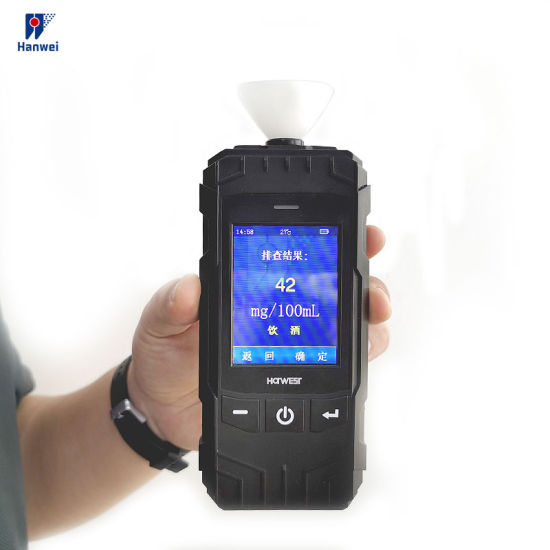 Continues Working for 10 Hours Battery-Powered Alcohol Tester Professional Digital Breath Alcohol Analyzer
