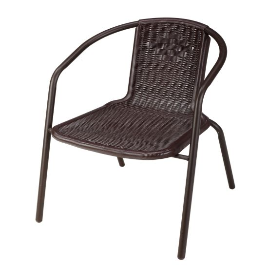 Modern Garden Outdoor Furniture PP Plastic Rattan Stackable Chairs