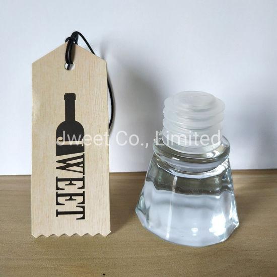 Custom Gin Whisky Tequila Glass Stopper Glass Bottle Cork