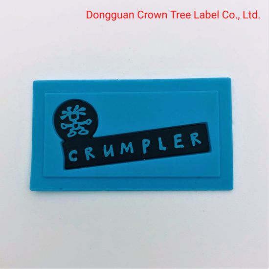 Hot Sale Blue 3D Silicone Printing Label with High Quality