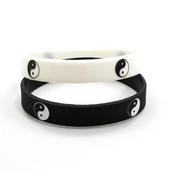 Silicone Rubber Sports Bracelets Bangles Fashion Jewelry Gifts