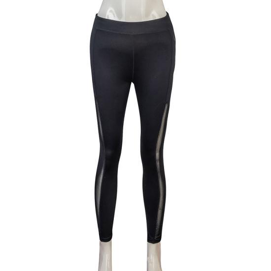 Wholesale Women's Sexy Fitness Breathable Training Leggings Mesh Fabric Dance Yoga Pant
