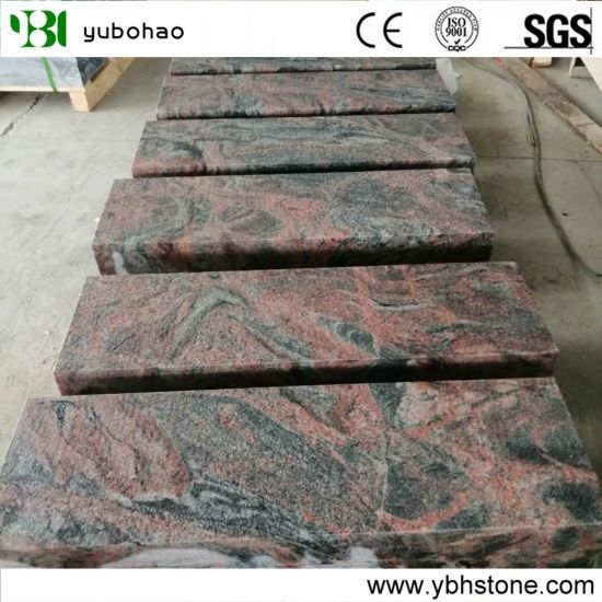 Hot Sale Flamed Multicolor Red Granite Paving/Curbstone/Cobblestone/ Kerbstone for Landscape