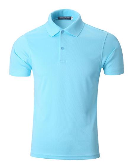 bffe75bff8c7 China Men Custom Logo Blank Quick Dry Fit Black Sports Golf Polo T ...