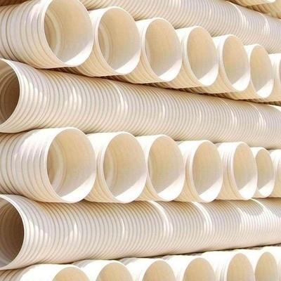 Sn4 Sn8dual Wall Bellow PVC Drainage Pipe Line ID200 Bellow Tube