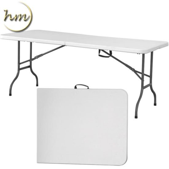 Rectangle HDPE Outdoor Plastic Folding Table for Sale pictures & photos