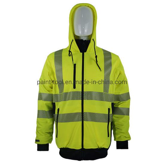 Mens High Visibility Waterproof Workwear Reflective Jacket Safety Uniform