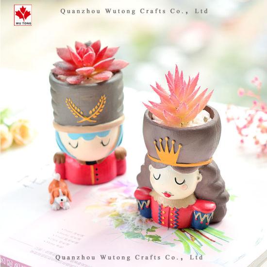 Wholesale Resin Guard King Head Flower Pot Home Decor