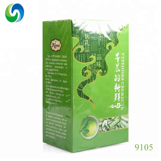 100% Nature Fresh No Pollution Organic Refined Chinese Green Tea 9105