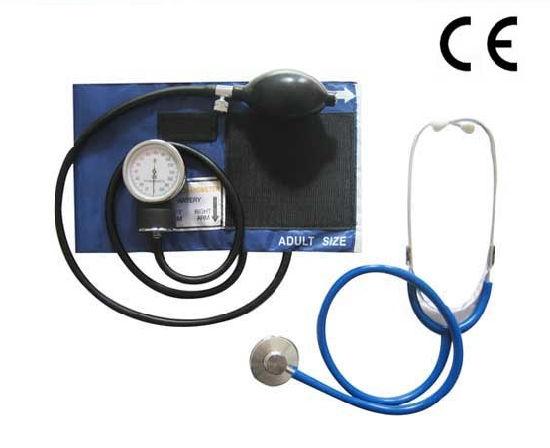 Classic Aneroid Sphygmomanometer Kit with Stethoscope