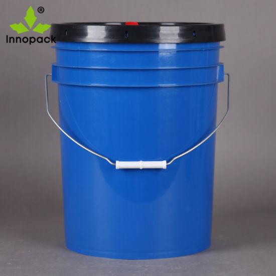 China 20 Liter 5 Gallon Plastic Paint Bucket American Style China 20 Liter Paint Bucket Plastic Bucket 20 Liter