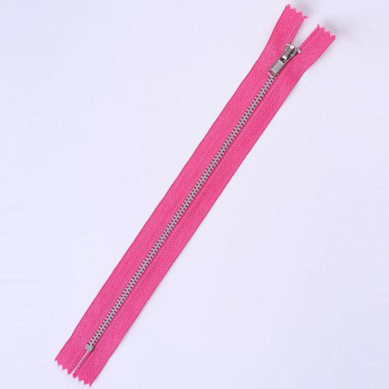 No. 3 Metal Zipper Nickel Color Teeth Close End Autolock Slider Zipper