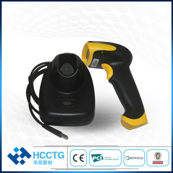 China 433MHz USB Wireless Symbol Scan Gun 2D Code Barcode Reader