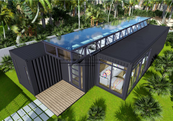 40FT Modified Modular Prefabricated Movable Shipping Container House pictures & photos