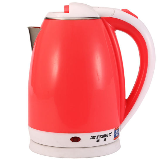 High Quality Nice Design Multi-Color Inner Stainless Steel Plastic Electric Kettle pictures & photos