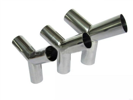 Sanitary Stainless Steel Y Tee Pipe Fitting Food Grade