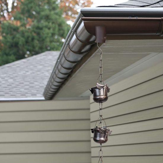 Garden Metal Iron Unique Hanging Outdoor Decorative Dragonfly Rain Chain