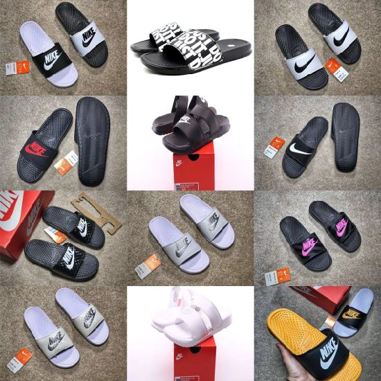 Womens Benassi Swoosh Jdi Print Putian Summer Beach Flip Flops Slippers