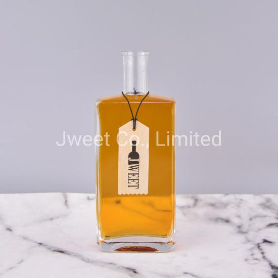 Flat Shape Crystal 500 Ml Glass Wine Whiskey Bottle