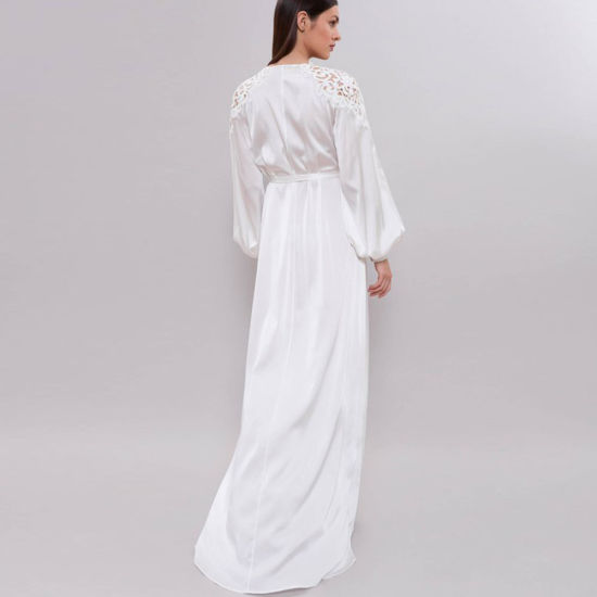 f18a7f25cb China Women Fashion Long Satin Cuffing Bridal Robe Gown with Arm ...
