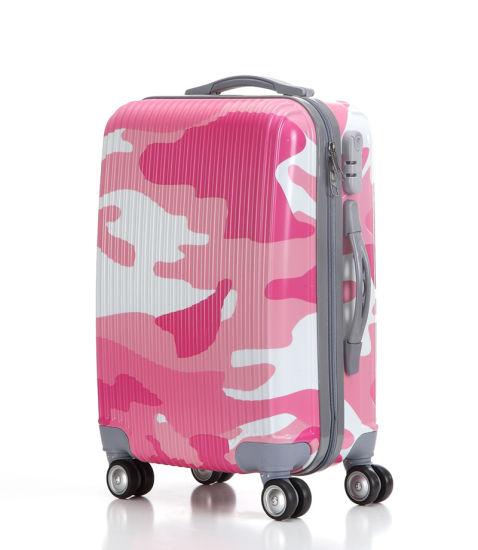 Custom Trolley Suitcase Full Camouflage Printing Luggage Case (XHPA038)
