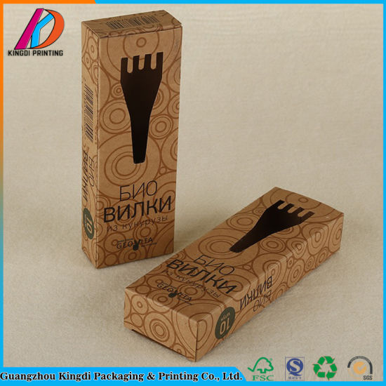 Eco-Friendly Die Cut Kraft Paper Packaging Box with Window pictures & photos