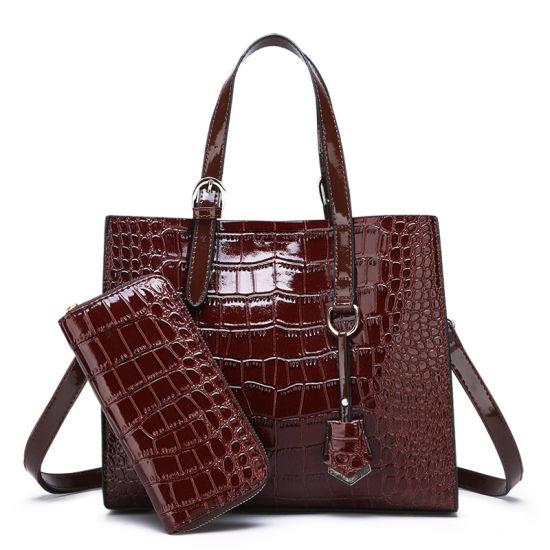 Best Quality Promotional PU Handbag Crocodile Pattern Purse Set Women Tote Bag Other Handbags