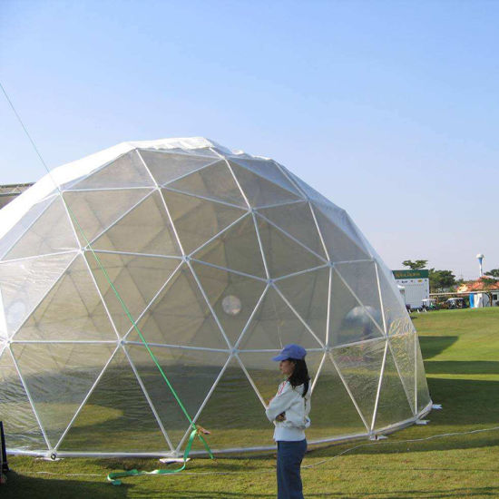 1000 People Capacity Party Transparent Geodesic Dome Tent Event Outdoor Restaurant Housetent