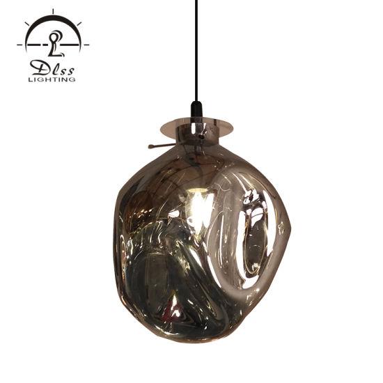 Dlss Lighting Hollow Glass Hanging Pendant Lamp