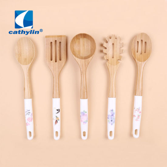 High Quality Customized Eco-Friendly Wooden Cooking Tool Sets Kitchenware