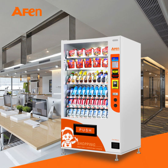 Afen Philippine European Design Combo Snack and Beverage Vending Machine