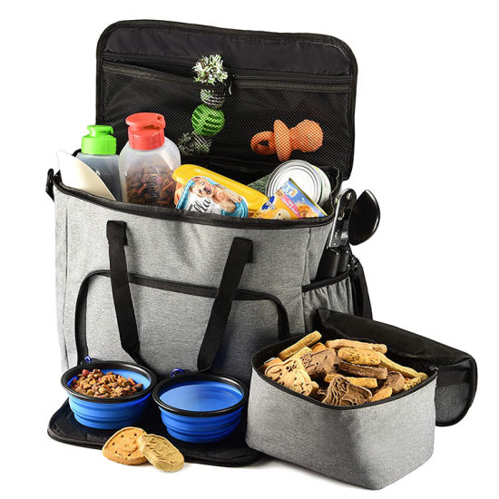 Large Capacity Space Dog Travel Storage Bag Wholesale Portable Pet Food Bag for Outdoor