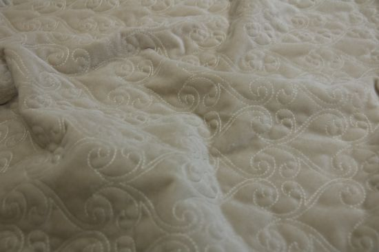Ptpf1300 100% Polyester Quilted Fabric Ultra Sonic Quilted pictures & photos