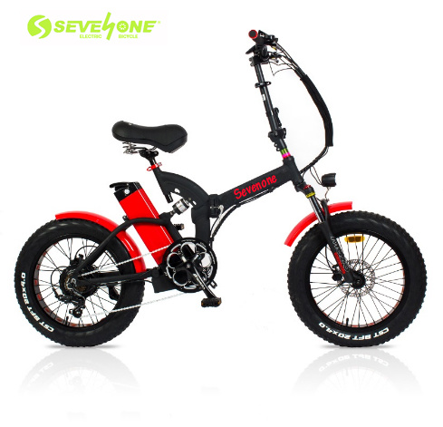 High Performance 20inch 350W Full Suspension Foldable Electric Fat Tire Electric Bike