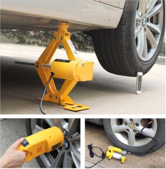 12V Car Electric Hydraulic Floor Jack Lifting Set Impact Wrench Tool/Hand Tools/Tool Set/Hardware Tools