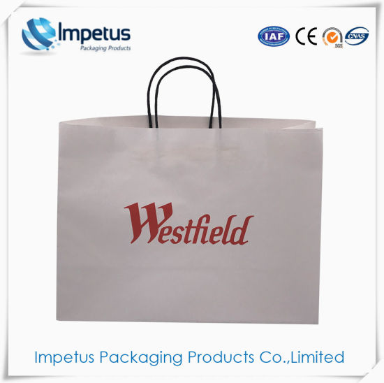db20252738 Wholesale Paper Bag Recycled White Kraft Paper Gift Bags with Paper Handle  Handbags