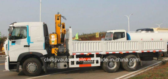 Sinotruk 10 Tons Loading Truck with Telescopic Foldable Arm Crane pictures & photos