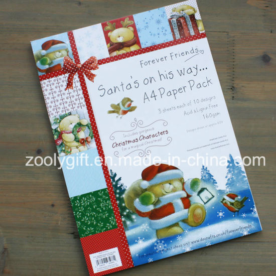 China Christmas Characters A4 Paper Pack Santa′s Scrapbook Paper