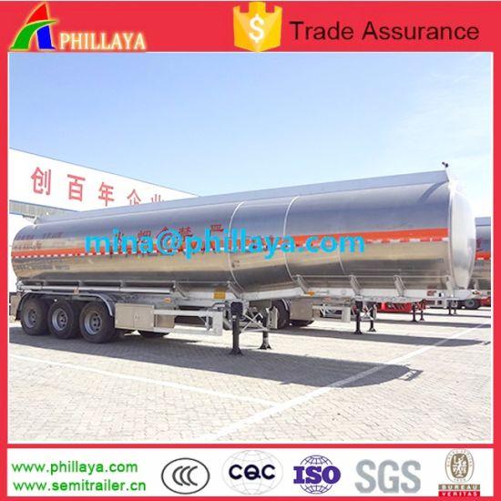 40-50cbm Aluminum Food Water Milk Tanker Truck Semi Trailer