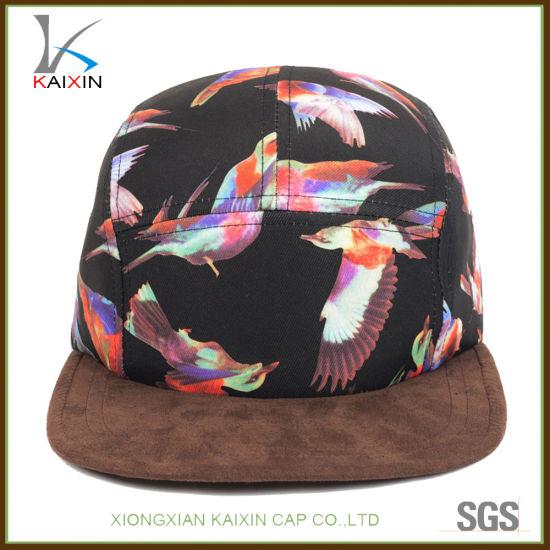 dcdba75f5f145 China Custom Suede Brim Snapback Blank 5 Panel Camp Cap Hat - China ...