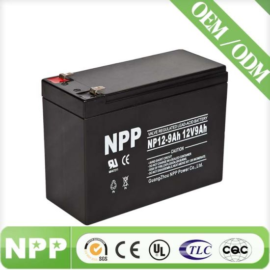 12V9ah Battery Sealed Lead Acid Battery VRLA AGM Battery Np12-9ah for UPS Battery Rechargeable Battery