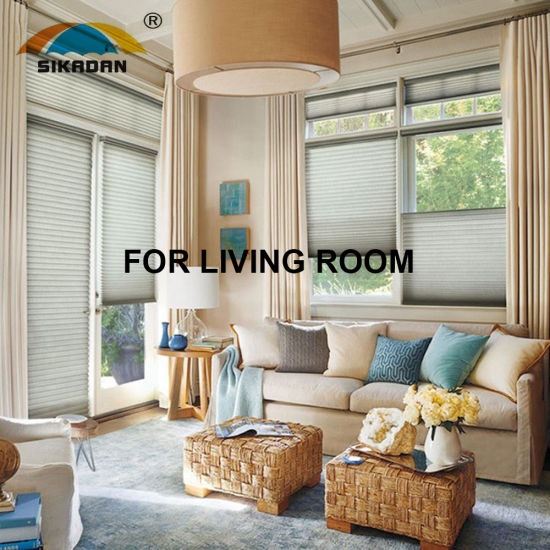 Top Quality SKD Shutters Customized Honeycomb/Beehive/Cellular Roller Blinds