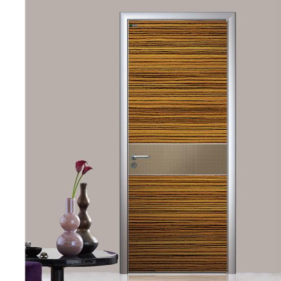 Double Entry Wood Doors, Residential Interior Doors, Interior Apartment Door