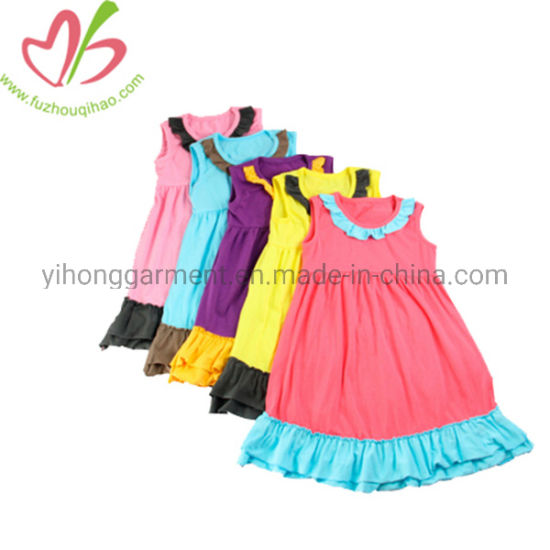 452b404841 China Popular Simple Breathable Cotton Kids Party Daily Wear Girl ...