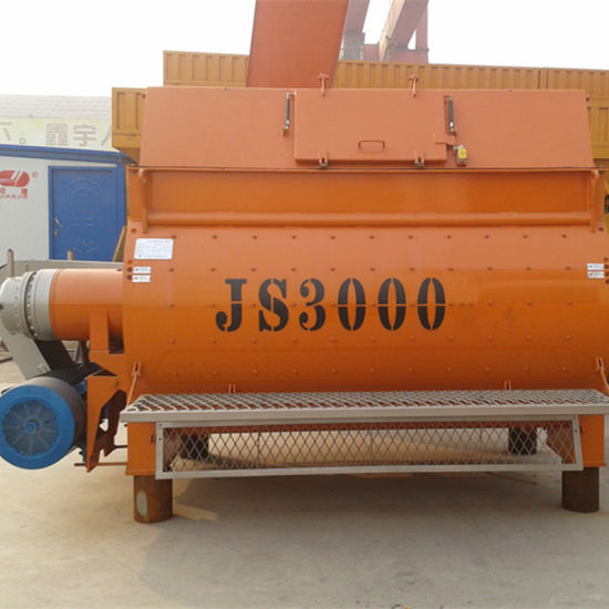 (JS-3000II) Twin Shaft Force Concrete Mixer pictures & photos